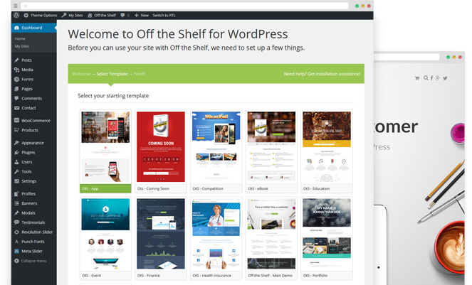 Off the Shelf - The Online Marketing WordPress Theme