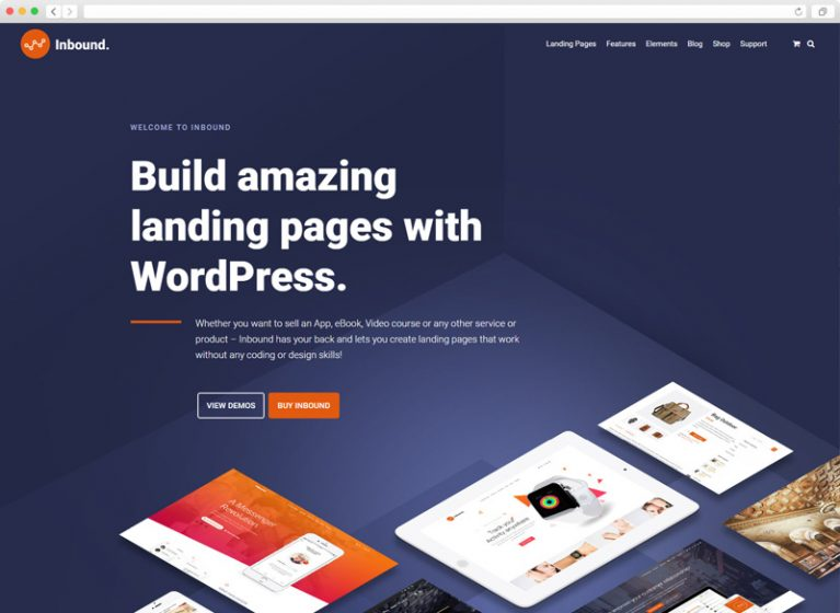 Inbound WordPress Landing Page