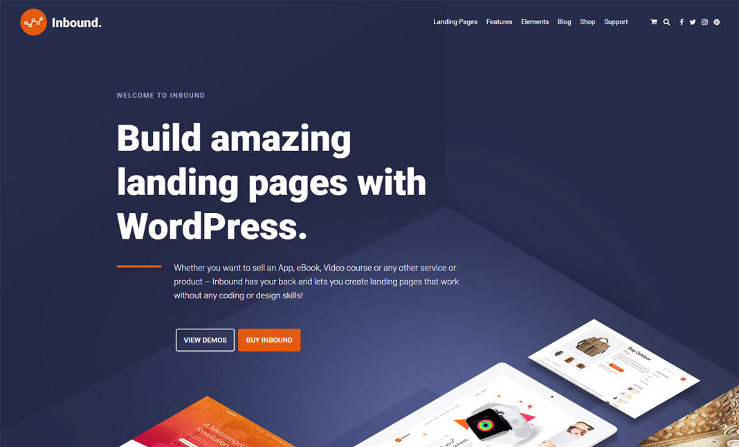 Landing Page in WordPress