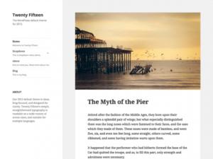 Twenty Fifteen - the default theme for WordPress