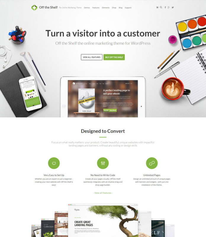 Off the Shelf Online Marketing WordPress Theme