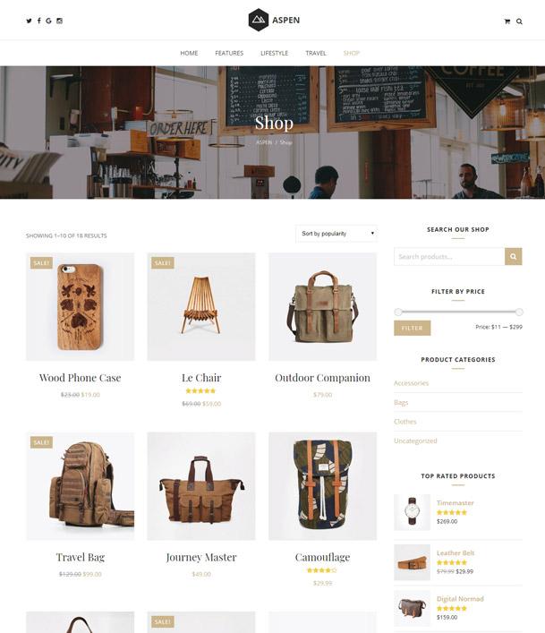 WordPress WooCommerce Blog