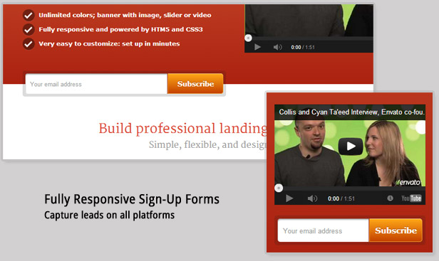 WordPress, a responsive landing page... and newsletter integration