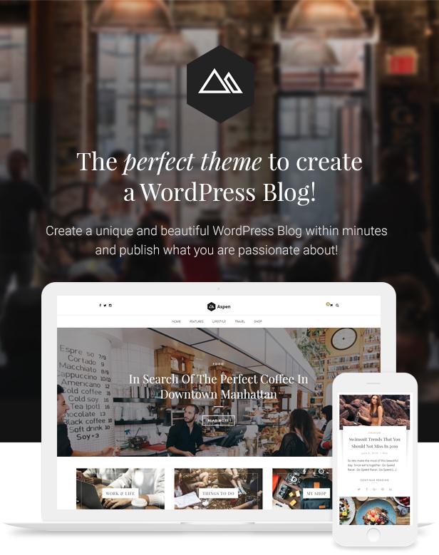 Aspen WordPress Blog Theme