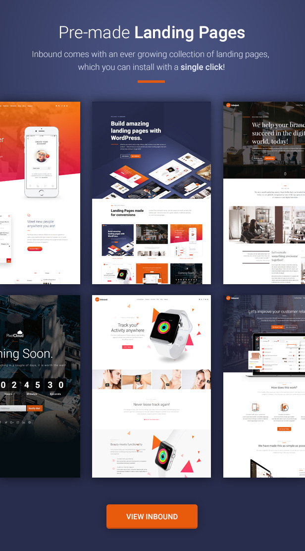Inbound - The Landing Page Theme