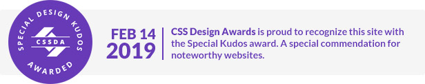 CSSDesignAward for Aspen WordPress Theme