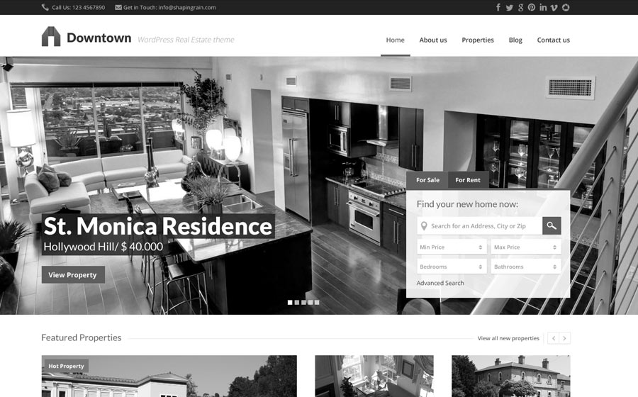 Downtown WordPress Real Estate Theme